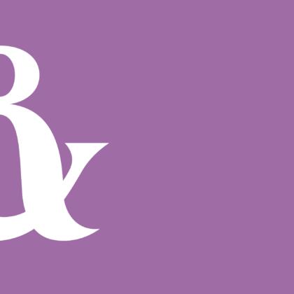 Skåne logotyp på lila bakgrund